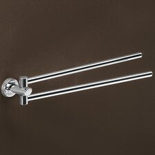 Texas Jointed Double Towel Bar in Chrome