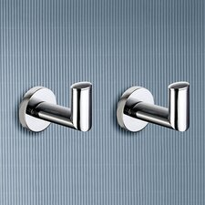 Demetra Set of Two Hooks in Chrome (Set of 2)