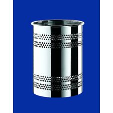 Oltre Waste Basket in Polished Steel