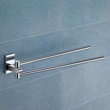 "Maine 14.2"" Wall Mounted Jointed Double Towel Bar"