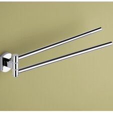 "Edera 14.1"" Wall Mounted Jointed Double Towel Bar"