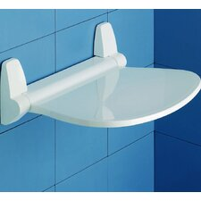 Sound Tilt-Up Shower Seat in White