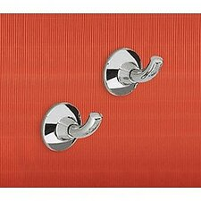 Ascot Wall Mounted Pair of Hooks