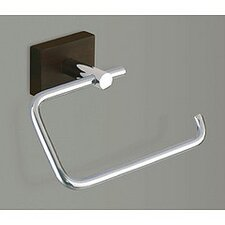 Minnesota Woods Toilet Paper Holder with Espresso Wood Mount in Chrome