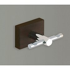 Minnesota Woods Wall Mounted Double Hook with Espresso Wood Mount