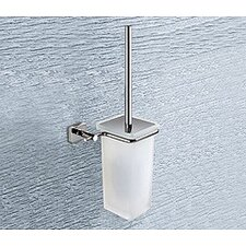 Minnesota Wall Mounted Frosted Glass Toilet Brush Holder