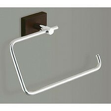 Minnesota Woods Towel Ring with Espresso Wood Mount in Chrome