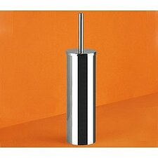 Genziana Cylindrical Toilet Brush Holder in Chrome