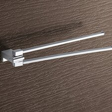 Kansas Jointed Double Towel Bar in Chrome