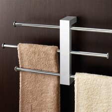 <strong>Gedy by Nameeks</strong> Bridge Wall Mounted Sliding Three Tier Towel Holder in Chrome