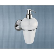 Ascot Frosted Glass Soap Dispenser with Chrome Holder
