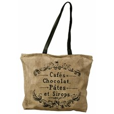 Suede Cafe Chocolate Print Bag *