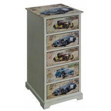 Vintage Cars 5 Drawer Chest