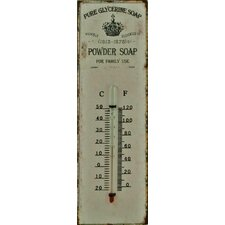 Powder Soap Metal Wall Thermometer *