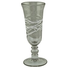 Spiral Champagne Glass in White (Set of 6)