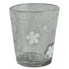Flowered Tumbler in White * (Set of 6)