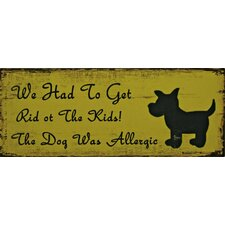 Top Dog Wall Plaque *