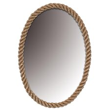 Rope Design Oval Mirror