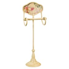 Gifts and Accessories Floral Toilet Roll Holder