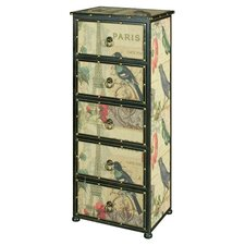 Paris 5 Drawer Tallboy Chest