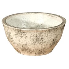 Rose Print Round Bowl Planter