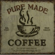 """Pure Made Coffee"" Plaque"