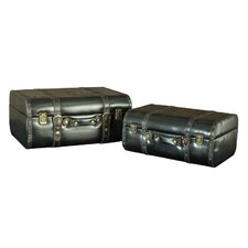 Suitcase Blanket Box (Set of 2)