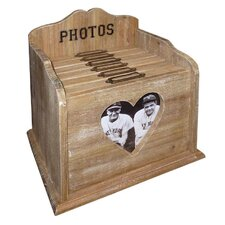 Heart Window Photo Filing Box