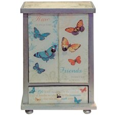 Gifts and Accessories Butterflies Glass Print Jewellery Box