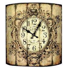 Gifts and Accessories Floral Border Vintage Wall Clock