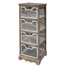 Wooden 4 Heights with Mesh Baskets