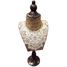 Gifts and Accessories Collar Hessian and Lace Mannequin Bust