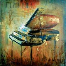 Piano Man Canvas Wall Art