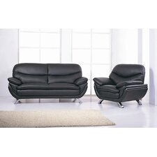 Jonus Leather Sofa and Chair Set