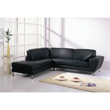 <strong>Hokku Designs</strong> Julie Leather Sectional