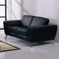 <strong>Hokku Designs</strong> Julie Leather Loveseat