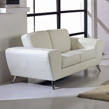 Julie Leather Loveseat