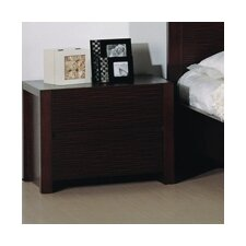 <strong>Hokku Designs</strong> Etch 2 Drawer Nightstand