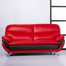 <strong>Hokku Designs</strong> Jonus Leather Sofa