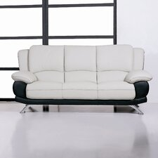 <strong>Hokku Designs</strong> Caelyn Leather Sofa