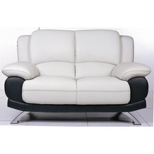 <strong>Hokku Designs</strong> Caelyn Leather Loveseat