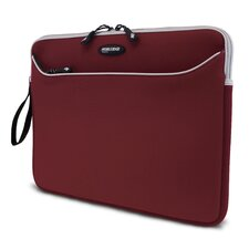 "17"" Red / Silver SlipSuit Neoprene Laptop Sleeve for MacBook Pro"