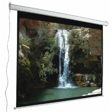 "Aspect Ratio Matte White 84"" Electric Projection Screen"