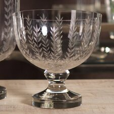 Leaf Cut Glass Bowl