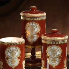 Opulent Pedestal Glass Jar with Lid