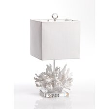 Coral and Crystal Table Lamp