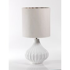 """Ribbed 29.5"""" H Table Lamp with Oval Shade"""