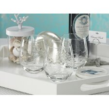 Coral Beach Fish Cut Design Glassware (Set of 6)