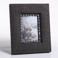 Raffia Picture Frame with Zebra Shells
