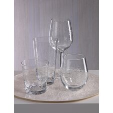 Coral Beach Fish Cut Design Hi Ball Glassware (Set of 8)
